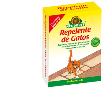 Repelente de gatos con extractos vegetales